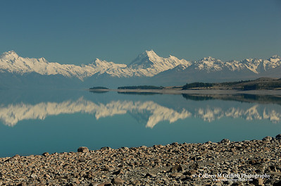 © 2007 Colleen M. Griffith. All Rights Reserved.  This material may not be published, broadcast, modified, or redistributed in any way without written agreement with the creator.  This image is registered with the US Copyright Office. Mt. Cook and Lake Pukaki, New Zealand
