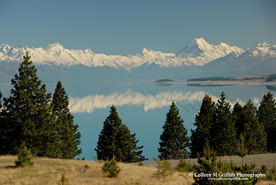 © 2007 Colleen M. Griffith. All Rights Reserved.  This material may not be published, broadcast, modified, or redistributed in any way without written agreement with the creator.  This image is registered with the US Copyright Office. Lake Pukaki and Mt. Cook, New Zealand