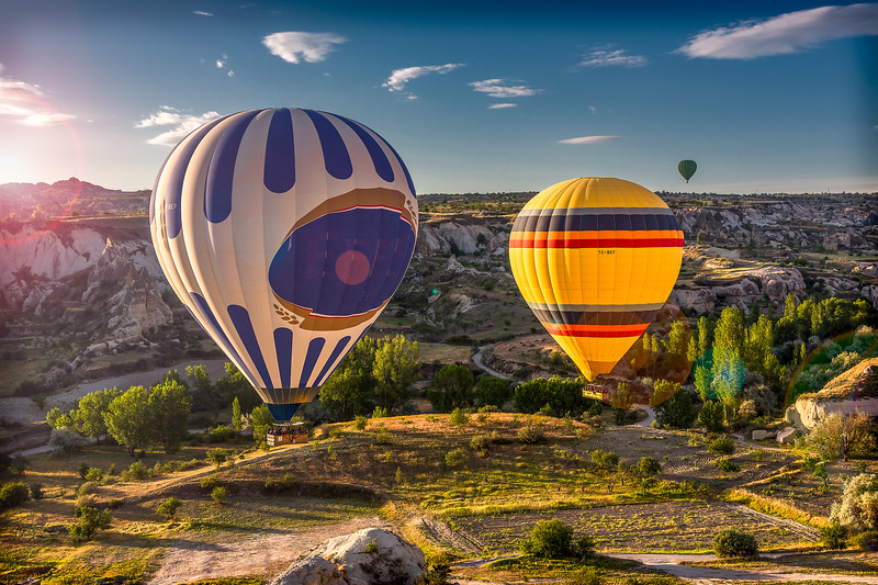Morning baloon ride in Cappadocia, Turkey