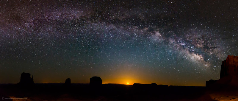 Milky Way over Monument Valley