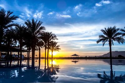Sunset at Nile River, Luxor, Egypt
