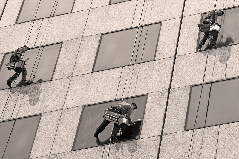high-rise window washers downtown Atlanta