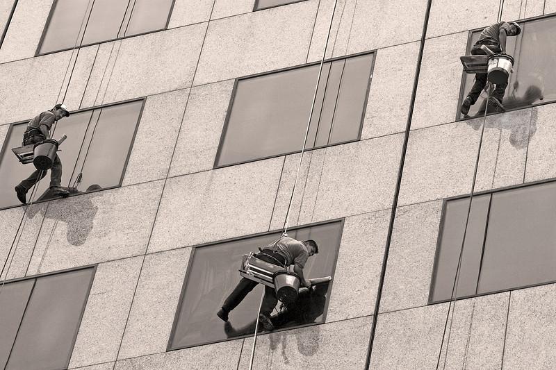 high-rise window washers downtown Atlanta