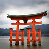"""""""Floating""""<br /> The O-Torii (Grand Gate) of the Itsukushimajinja Shrine rises out of the water on the island of Miyajima, Japan."""
