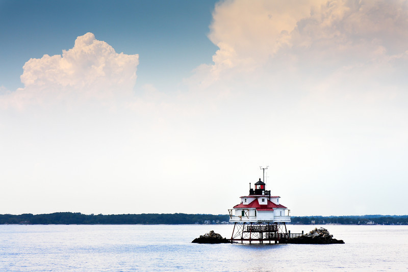 Thomas Point Shoal Lighthouse <br /> Located on the Chesapeake Bay, south of Annapolis, Maryland, this is the last operational screwpile lighthouse and is still being used as a navigational aid. It is a National Historic Landmark.