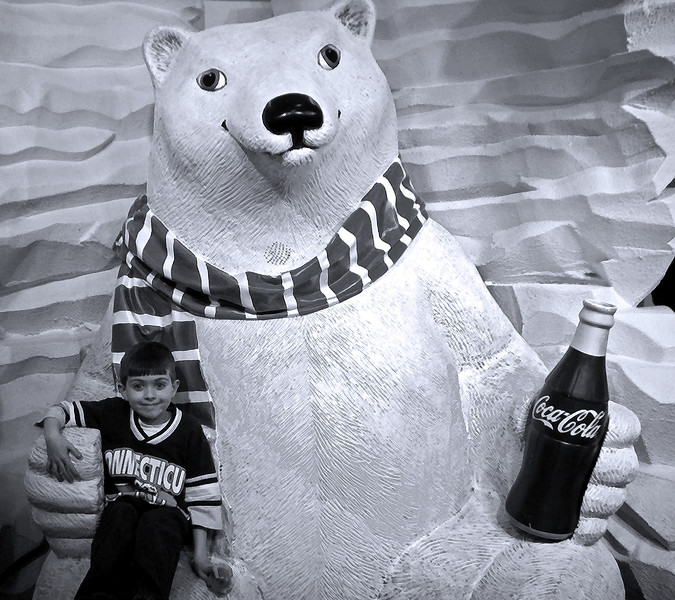 Boy with Coca-Cola Bear