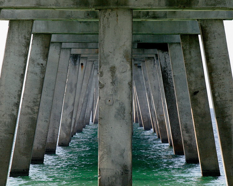 Under the pier beach photography