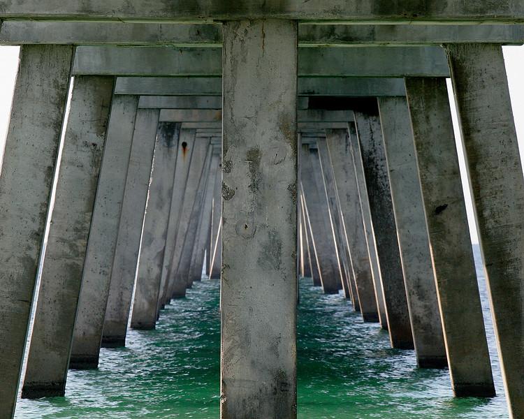 Under the pier beach photography