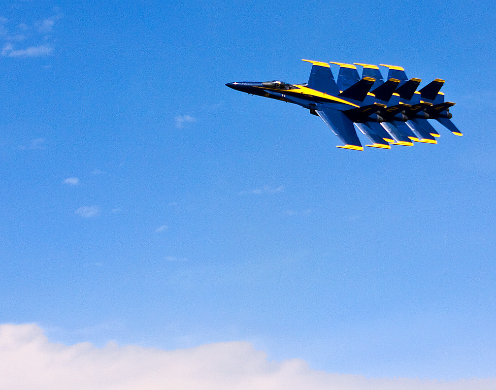 Blue Angels tucked in tightly