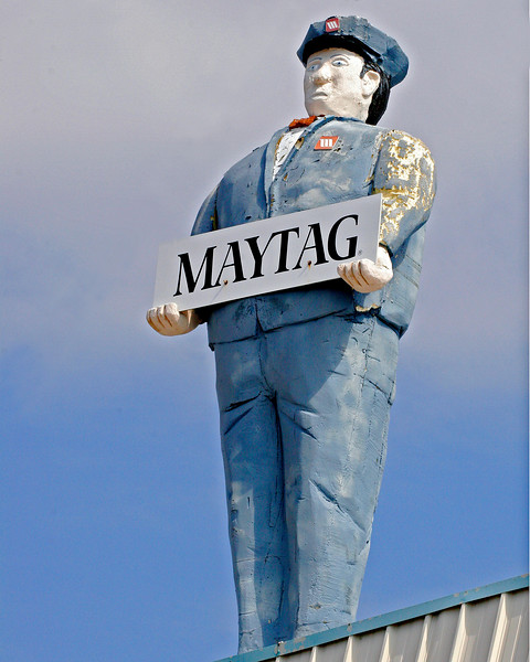 The huge Maytag Man