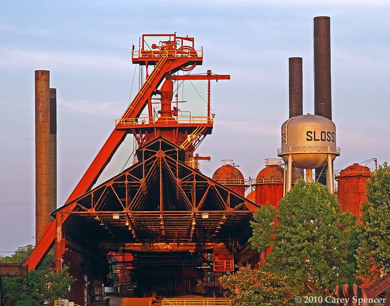 Historic Sloss Furnaces at Dawn