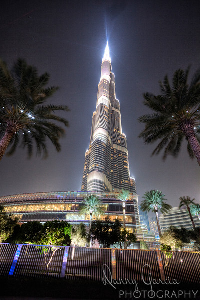 Night Photo of the Burj Khalifa Tower