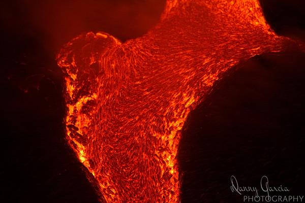 Lava Flow with Dark Background