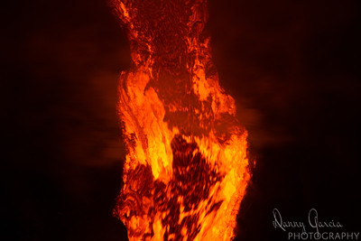 Lava Flow with Dark Background