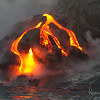 Lava Flow into the Ocean
