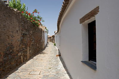 Tiny Cobbled Streets of Monsaraz, Portugal