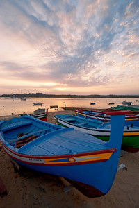 Colorful Fishing Boats of Alvor, Portugal