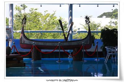 台東航空站的拼板舟