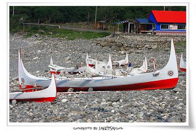 朗島港的拼板舟