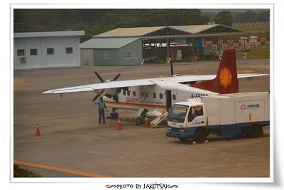 颱風天從台東機場起飛,運氣好避開惡劣天候,登機成功