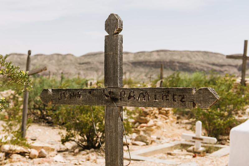 Terlingua Texas Cemetery Ramirez Marker