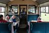 Traveling on the Strathspey steam railway.