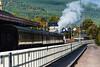the Strathspey steam railway engine puffing steam again.