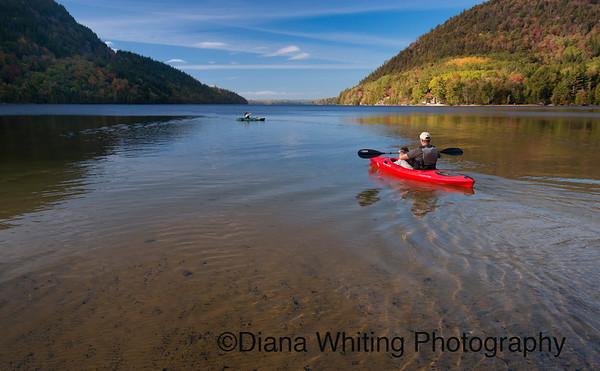 Kayaking Long Lake Acadia National Park