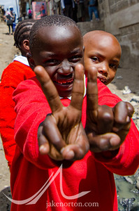 Children in Mathare, a major slum and home to some 500,000 people in Nairobi, Kenya.