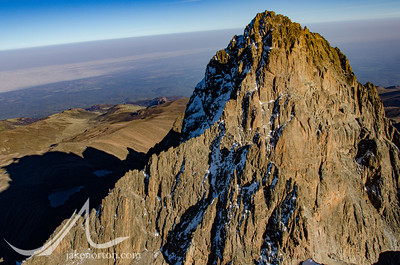 Mount Kenya from the air.