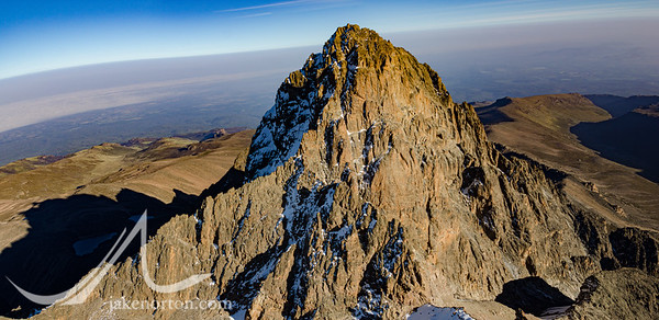 Mt Kenya from the air.