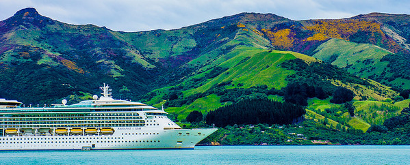 Radiance of the Seas, Royal Caribbean Cruise Ship, Akaroa, New Zealand