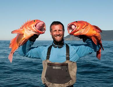 This is first mate Craig holding 2 nice Yelloweye's