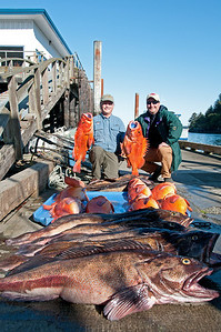 We caught ~700 pounds of fish. Cleaned we brought home 152 pounds of fillets.