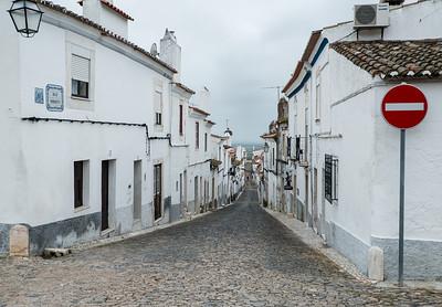 Lonely street at Estremoz