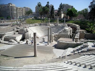 Roman Amphitheatre,Alexandria, Egypt