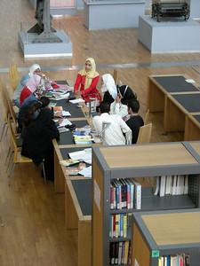 students studying, Bibliotheca Alexandrina, Egypt