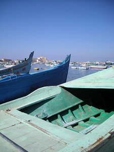 boats in Alexandria Harbor, Egypt
