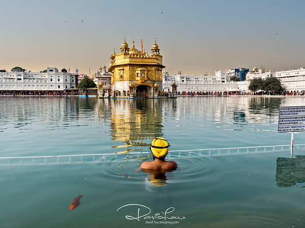 Pilgrims can be seen taking a dip in the lake, a symbolic purging of the soul in the holy waters. The water is said to have healing power