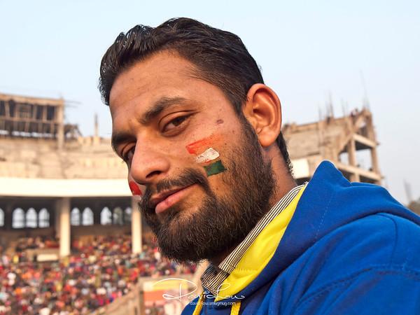 An patriotic Indian spectator