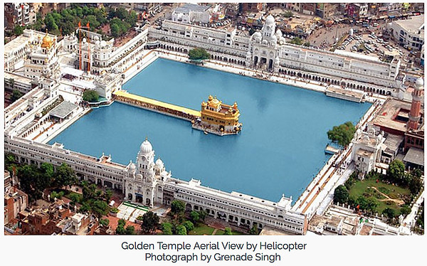Overview of the Golden Temple. Photo Credit: Grenade Singh