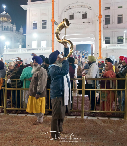 The ceremony takes place at 5am and 9.30pm in winter, and 4am and 10.30pm in summer, everyday rain or shine, where the holy book is installed in the temple every morning and returned at night to the Akal Takhat,