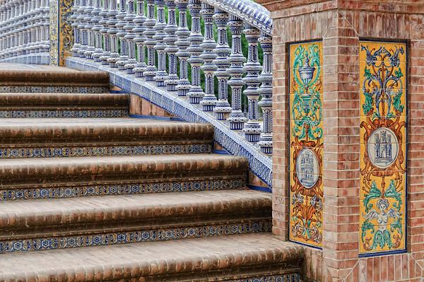 Steps at Plaza Espagna, Sevilla