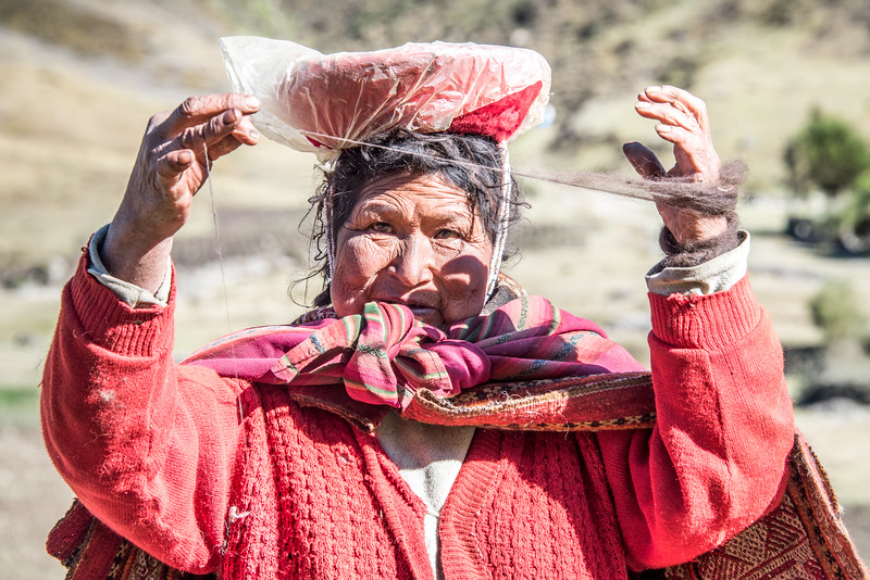 Spinning a Yarn -  Sacred Valley, Peru