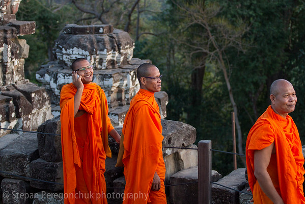 Smiling monks