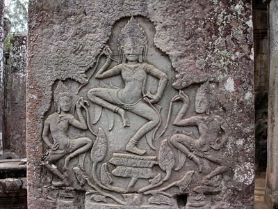 stone carvings at Ankor, Cambodia