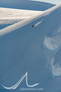 Seth Waterfall making new tracks high above Vinson Basecamp, Antarctica.