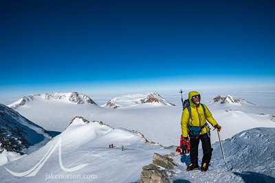 Peter Whittaker and his team approaching the summit of Vinson Massif, Antarctica.