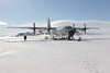 C-130 Hercules on Ice Shelf, McMurdo Sound, Antarctica