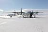 C-130 Hercules on Ice Shelf, McMurdo Sound, Antarctica